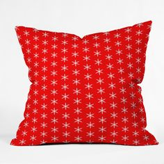 Caroline Okun Ruby Jingle Throw Pillow | DENY Designs Home Accessories