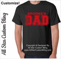 Cheer Dad Shirt, Custom Cheer Dad Shirt