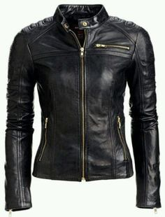 New Style Womens Real Lambskin Leather Motorcycle Jacket Slim Fit Biker Style Brand New Women's Real lambskin Leather Jacket Slim fit Motorcycle Biker jacket Coat . Womens Black Leather Jacket, Lambskin Leather Jacket, Leather Skin, Biker Leather, Real Leather, Motorcycle Leather, Motorcycle Style, Women Motorcycle, Leather Blazer