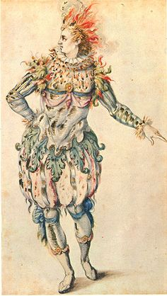 """Costume design for A Star from """"Oberon the Faery Prince"""""""