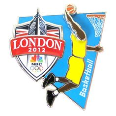 2012 Olympics NBC Basketball Pin