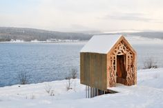 """Hütte """"Freya and Robin"""", entworfen von Studio Weave: Dieser stilvolle Rastplatz..."""