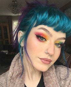 By charlie wakeman . By charlie wakeman . Grunge Look, Grunge Style, Soft Grunge, Grunge Hair, Teal Hair, Hair Color Purple, Hair Inspo, Hair Inspiration, Alternative Makeup