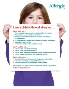 Free downloadable allergy awareness posters from Allergic Living magazine!