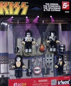 The KISS (band) Block on Yardsellr photo K'NEX KISS ROCK BAND 41 PC SIMMONS DEMON STARCHILD SPACEMAN CATMAN NIP LEGO NEW