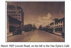Lincoln Road Miami Beach FL in 1927