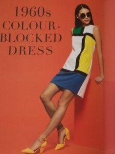 Free PDF pattern, GBSB 1960s Colour-blocked dress