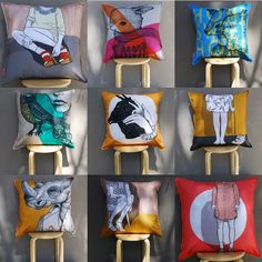 We are LOVING the cushion's we printing for Tracy Chaplin from the label Gretel Girl! Check out the cushions and other illustrations on... http://www.gretelgirl.com/