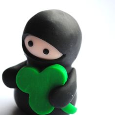 Nothing says St Patty's day like a ninja with a clover