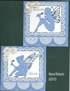 I created the card base and fairies from make the cut.