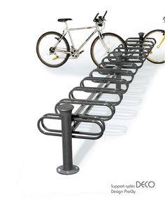 Support cycles DECO 24 places double face - Acier galvanisé laqué - Design ProCity