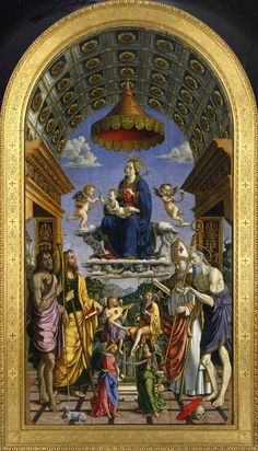 Macrino d'Alba (Gian Giacomo de Alladio), Madonna and Child Enthroned with Saints, Turin, Galleria Sabauda