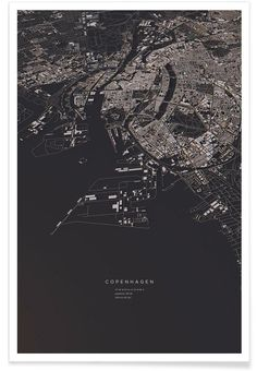 Copenhagen City Map VON Luis Dilger now on JUNIQE!