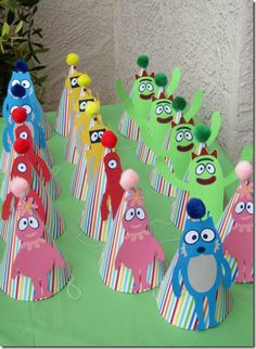Yo Gabba Gabba birthday party hats