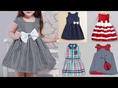 Kids cotton frocks designs baby girls summer dress easy to