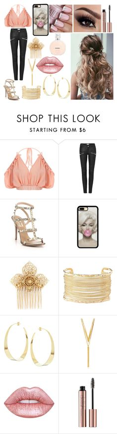 """casual"" by davissh ❤ liked on Polyvore featuring Valentino, Miriam Haskell, Charlotte Russe, Lana, BERRICLE and Lime Crime"