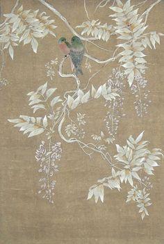 中式墙纸贴图