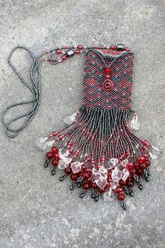 Peyote stitched bead bag