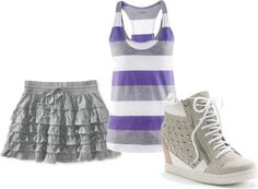 """""""Purple & Grey"""" by tbomb-1 ❤ liked on Polyvore"""