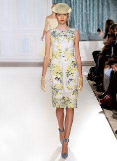 Stunning floral shift dress by Erdem (spring/summer 2012 collection).