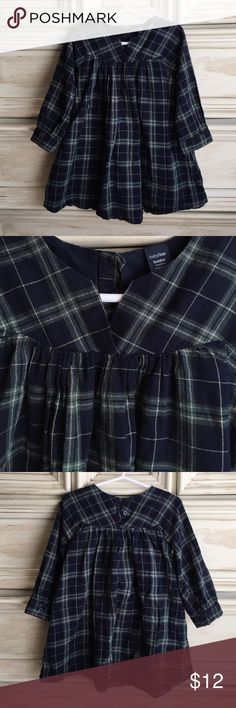 Gap Plaid Tunic / Dress Sweet cotton plaid dress or tunic. Looks great with leggings or as a dress. Light fabric is lined with a navy cotton lining so the dress hangs beautifully. Excellent condition and worn minimally. GAP Dresses Casual
