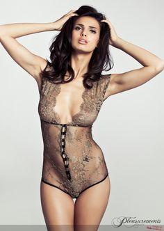 nude, lace bodysuit