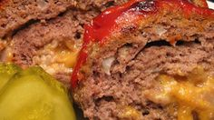 Easy-to-prepare meatloaf, rolled and stuffed with cheese, or any number of other possible ingredients, such as sauteed onions and mushrooms.