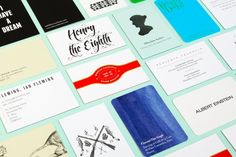12 Gorgeous Business Cards For Famous Historical Figures