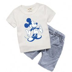 2c12e13121f9 Cool Boutique Kids clothes Summer Baby Boy Clothes Mickey toddler Boys  clothing Sets 2017 New Children Cotton Suit T shirt T6372 -  15.15 - Buy it  Now!