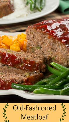 There are so many different ways to make meatloaf, but sometimes, you just want that traditional meatloaf recipe like mom used to make. Our Old-Fashioned Meatloaf was made with that classic, lip-smacking, delicious supper in mind. Beef Meatloaf Recipes, Classic Meatloaf Recipe, Good Meatloaf Recipe, Meat Loaf Recipe Easy, Best Meatloaf, Meat Recipes, Cooking Recipes, Healthy Recipes, Best Old Fashioned Meatloaf Recipe