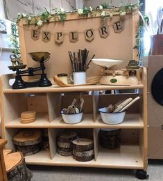 Looks like a different take on everyday kitchen supplies, can teach/show children the evolution of kitchen tools Reggio Emilia Classroom, Reggio Inspired Classrooms, Reggio Classroom, New Classroom, Classroom Setting, Classroom Setup, Classroom Design, Classroom Displays, Classroom Arrangement