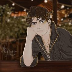 """Mariana on Instagram: """"Close up of Cardan Greenbriar from the folk of the air series #cardanfanart #cardanandjude #cardan #cardangreenbriar #thefolkoftheair…"""""""