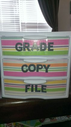 Classroom organizer. As a teacher it is of utmost importance to stay organized! Especially teaching the young ones.