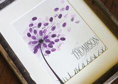 Dandelion Fingerprint Art Print | Jane