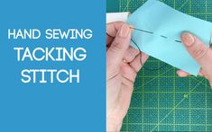 Tacking Stitch Sewing Stitches, Fabric Scraps, Tack, Hand Sewing, Sewing Ideas, Sewing By Hand, Stitches, Fabric Remnants, Sewing Coat