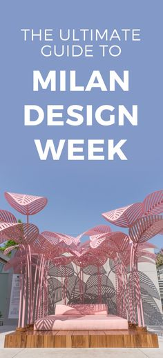 The Ultimate Guide to Milan Design Week especially if its your first time | Image features La Refuge daybed by Mark Ange | Lexus Design Award 2017
