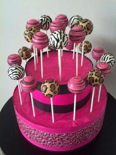Animal print cake pops by www.LetsEatCakePops.com #zebracakepops #leopardcakepops