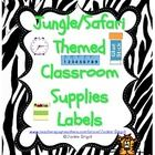 @Shauna Nelson This is a set of classroom supplies labels for a safari / jungle theme classroom.  Labels have animal print borders which include: tiger, leopard, ...