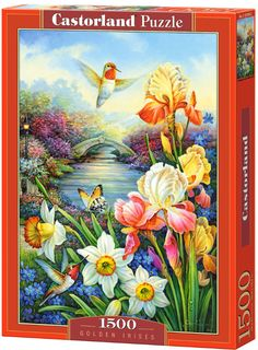 Golden Irises - 1500 Teile - CASTORLAND