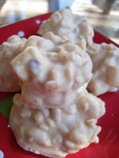White Chocolate Peanut Butter Krispies.