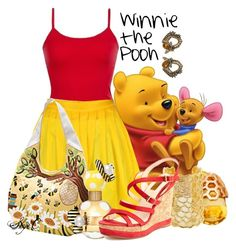 """Winnie the Pooh - Summer - Disney"" by rubytyra ❤ liked on Polyvore featuring BKE core, Astley Clarke, Monika Knutsson, Marc Jacobs, L.K.Bennett, Alexander McQueen, women's clothing, women, female and woman"