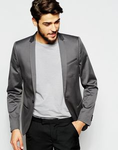 Cotton Blazer in Skinny Fit http://bit.ly/1WHpUse
