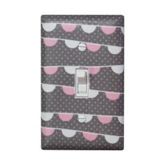 Bunting Light Switch Plate Cover / Pink White Gray by SSKDesigns, $16.00