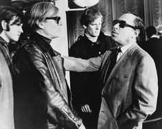 Warhol (left) and Tennessee Williams (right) talking on the SS France, in the background: Paul Morrissey. - Andy Warhol - Wikipedia, the free encyclopedia Tennessee Williams, Samuel Beckett, Pop Art, High Society, Moma, Andy Warhol Museum, Illustrator, Portraits, People