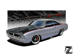 Dodge Demon 71 V3 by zvtdesigns on DeviantArt Car Drawings, Automotive Art, Bmw Cars, Kustom, Mopar, Hot Rods, Dodge, Race Cars, Deviantart