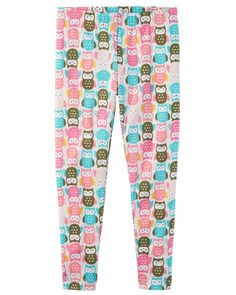 Owl Print Leggings from Carters.com. Shop clothing & accessories from a trusted name in kids, toddlers, and baby clothes.