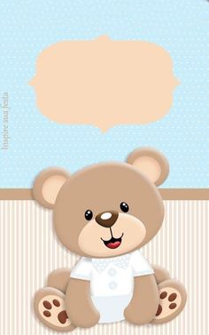 welcome baby fares Baby Shower Oso, Teddy Bear Baby Shower, Scrapbook Bebe, Baby Boy Scrapbook, Teddy Bear Party, Baby Shower Invitaciones, Bear Theme, Baby Shawer, Baby Album