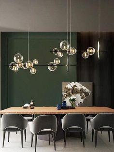Chandelier Design, Bubble Chandelier, Modern Chandelier, Modern Dining Room Lighting, Modern Hanging Lights, Industrial Chandelier, Chandelier Lighting, Living Room Lighting Ceiling, Glass Chandelier