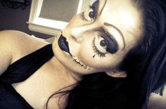 Vamp doll makeup!