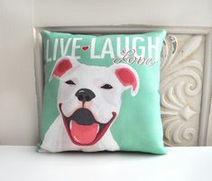 Pit+Bull+Terrier+Pillow+Staffordshire+Bull+Terrier+by+gingereyed,+$20.00